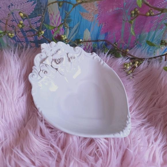 Vintage Handmade in Italy Porcelain Heart Dish